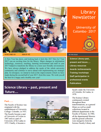 News Letter 2017 – Volume 03 Issue 02