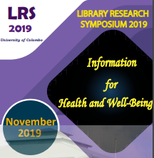 LIBRARY RESEARCH SYMPOSIUM 2019