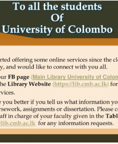 Notice for all UoC students