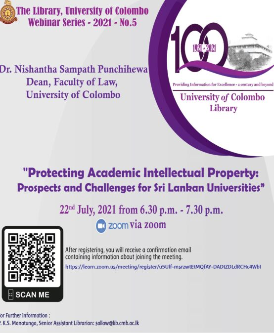 Main Library, University of Colombo Webinar Series – 2021 – No.5