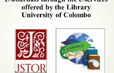 Webinar – Accessing JSTOR & E journals