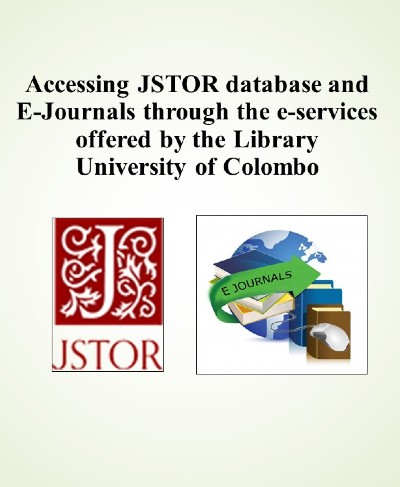 Webinar – Accessing JSTOR & E journals